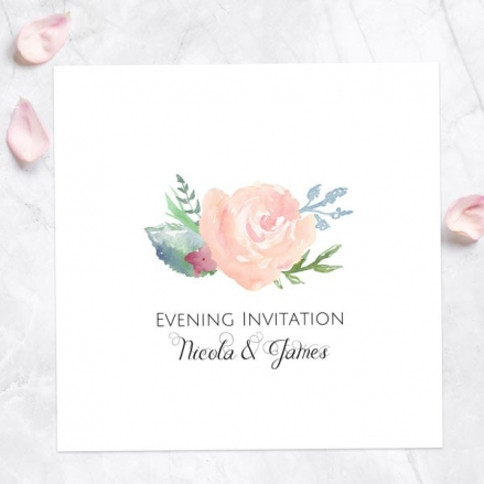 Watercolour Roses - Evening Invitations