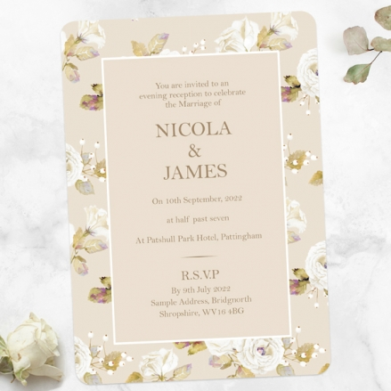 Vintage-Cream-Roses-Evening-Invitations