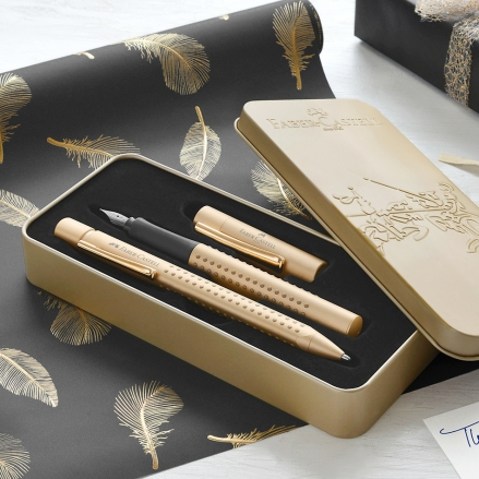 faber-castell-grip-fountain-pen-and-ballpoint-set-limited-edition-gold