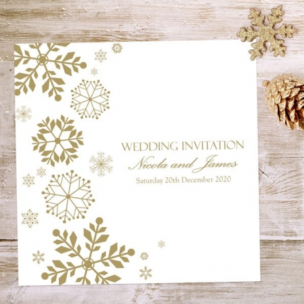 Falling Snowflakes - Wedding Invitations