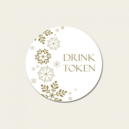 Falling Snowflakes - Drink Tokens - Pack of 30