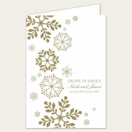 Falling Snowflakes - Wedding Order of Service