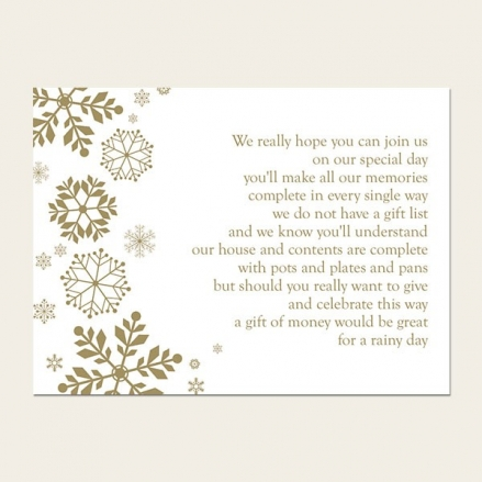 Falling Snowflakes - Gift Poem Cards