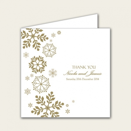 Falling Snowflakes - Wedding Thank You Cards