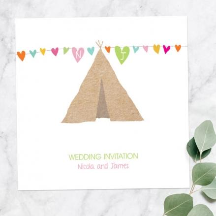 Festival Tipi - Wedding Invitations