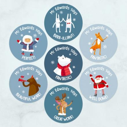 Festive-Friends-Teacher-Stickers-Pack-of-35