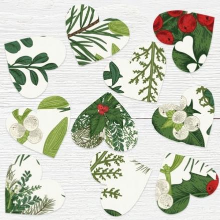 Festive Winter Foliage - Heart Table Confetti