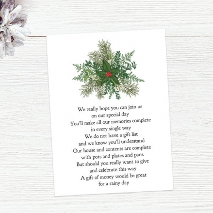 Festive Winter Foliage - Gift Poem Cards