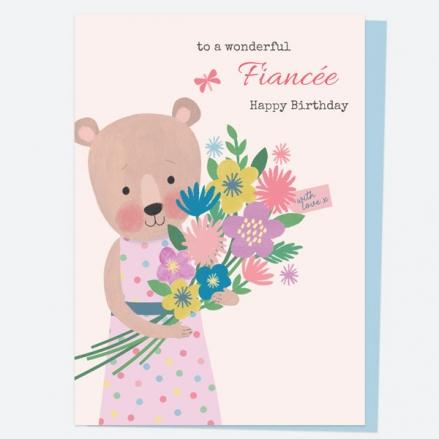 fiancee-birthday-card-dotty-bear-bouquet-happy-birthday-fiancee