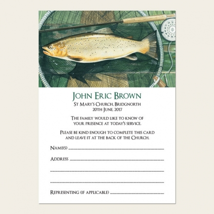 Funeral Attendance Cards - Fishing