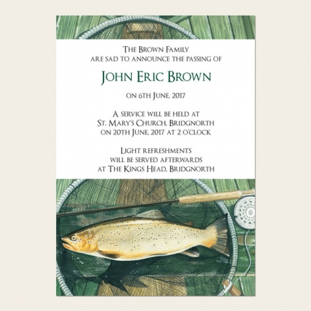 Funeral Announcement Cards - Fishing