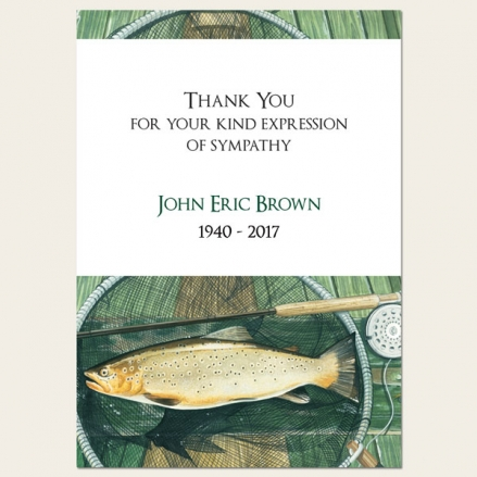 Funeral Thank You Cards - Fishing