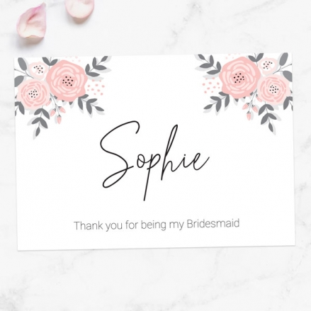 Thank You For Being My Bridesmaid - Floral Corners
