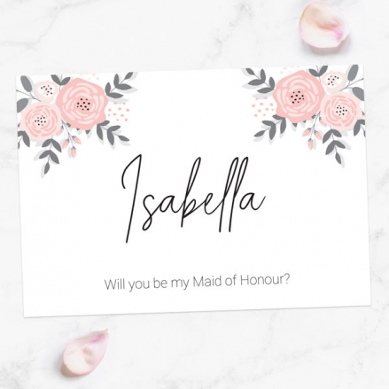 Will You Be My Maid of Honour? - Floral Corners