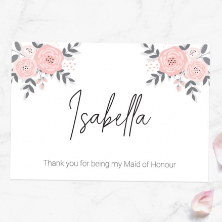 Thank You For Being My Maid of Honour - Floral Corners