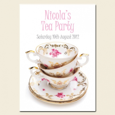 Tea Party Invitations - Floral Teacups
