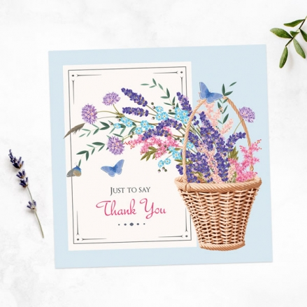 Ready to Write Thank You Cards - Flower Basket - Pack of 10