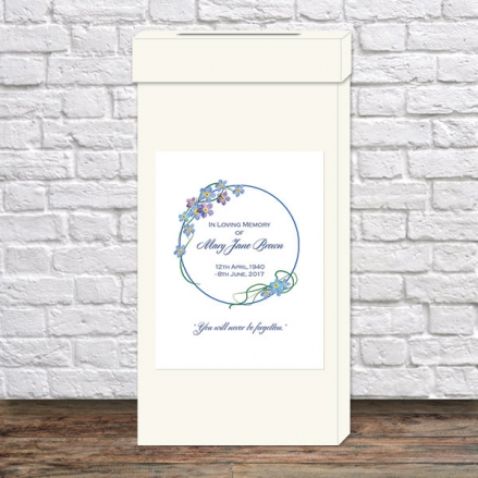 Funeral Post Box - Forget Me Not Border