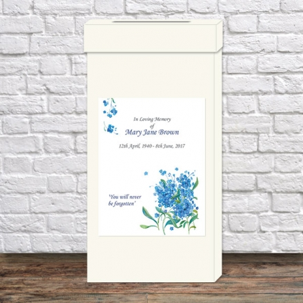 Funeral Post Box - Forget Me Not Bouquet