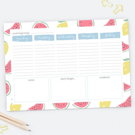 Fresh Ideas - Desk Planner