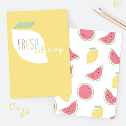 Fresh Ideas - A5 Exercise Books - Pack of 2