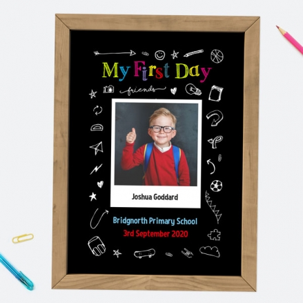 Personalised My First Day Print - Fun Doodles
