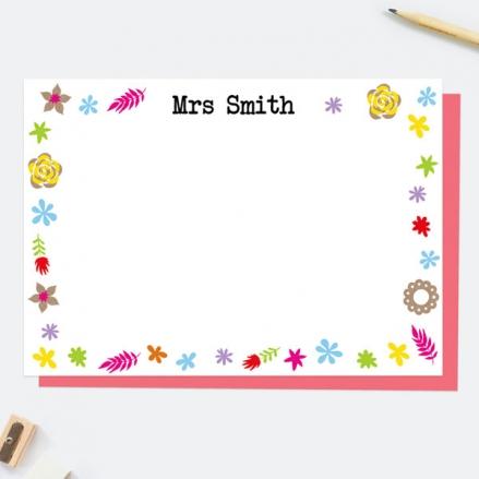 fun-kraft-paper-flowers-personalised-note-card
