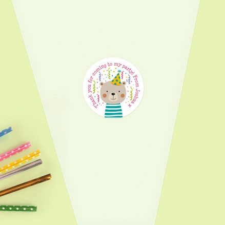 Fun Party Bear - Sweet Cone Bag & Sticker - Pack of 35
