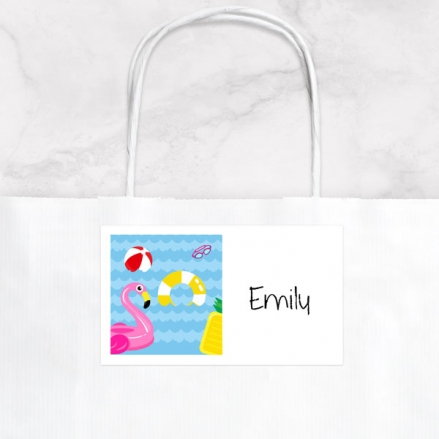 Fun Pool Party - Party Bag & Sticker - Pack of 10