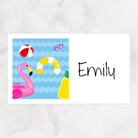 Fun Pool Party - Party Sticker - Pack of 10