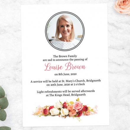 Funeral-Announcement-Cards-Classic-Roses-Photo