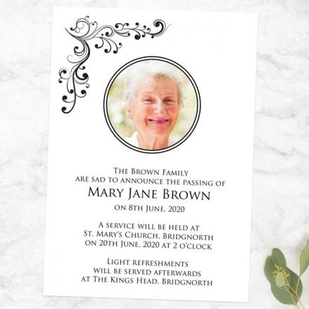 funeral-announcement-cards-elegant-scrolls-photo
