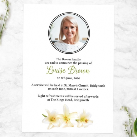 Funeral-Announcement-Cards-White-Lilies-Photo