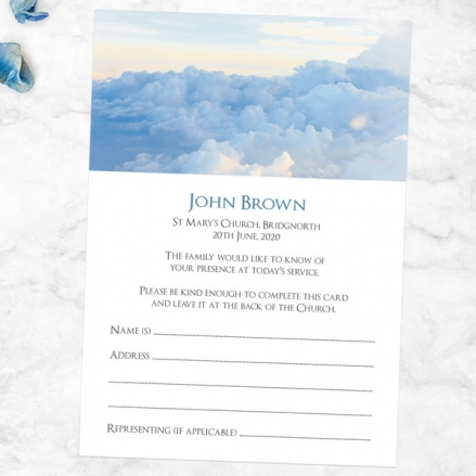 Funeral-Attendance-Cards-Above-the-Clouds