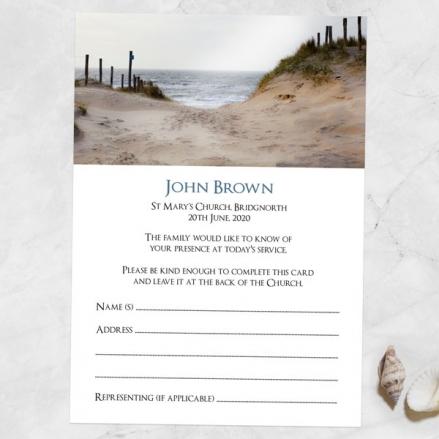 Funeral-Attendance-Cards-Beach-Path-Photo