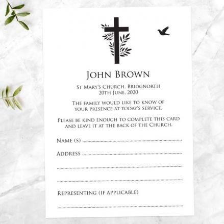 funeral-attendance-cards-cross-flying-bird