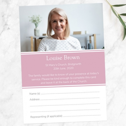 funeral-attendance-cards-female-Modern-Photo-Collage