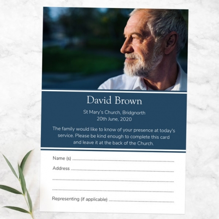funeral-attendance-cards-Male-Modern-Photo-Collage