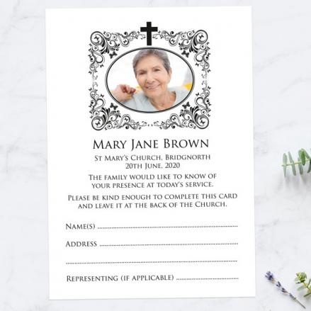 Funeral-Attendance-Cards-Ornate-Scrolls-&-Butterflies