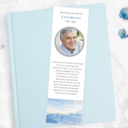 Funeral-Bookmark-Above-the-Clouds