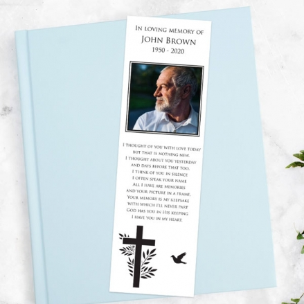 funeral-bookmark-cross-flying-bird-photo