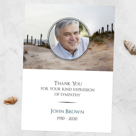 Funeral-Thank-You-Cards-Beach-Path-Photo