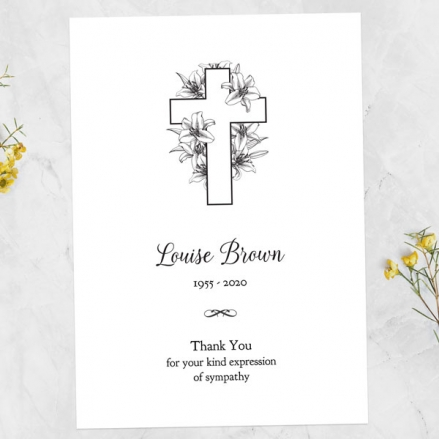 Funeral-Thank-You-Cards-Cross-&-Lilies