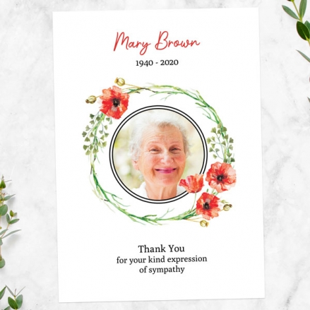 Funeral-Thank-You-Cards-Poppy-Garland-Photo
