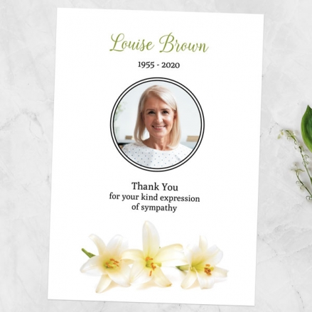 Funeral-Thank-You-Cards-White-Lilies-Photo