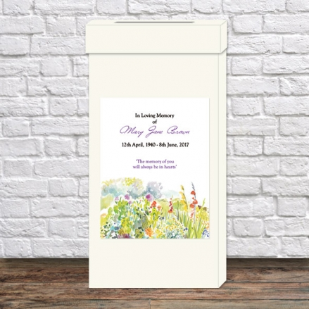 Funeral Post Box - Garden Flowers
