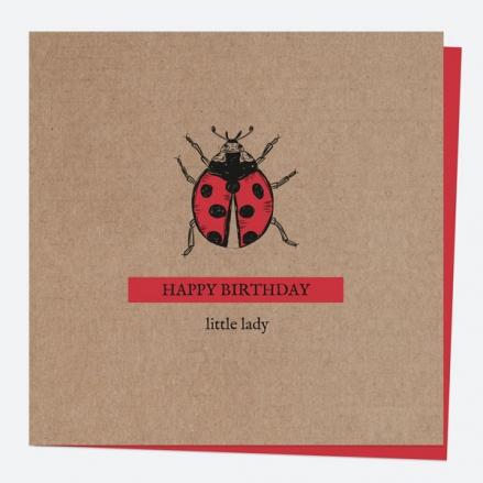 General Birthday Card - Bug Love - Ladybird - Happy Birthday Little Lady