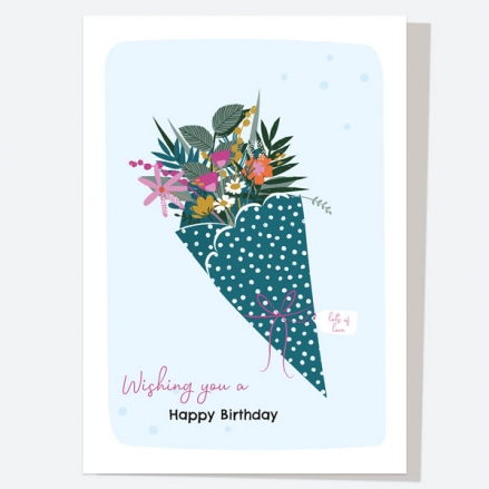 General Birthday Card - Pretty Wildflowers - Bouquet - Happy Birthday