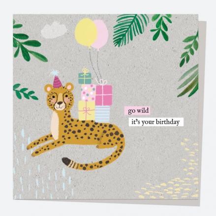 General Birthday Card - Wild At Heart - Cheetah - Happy Birthday
