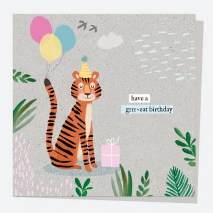 General Birthday Card - Wild At Heart - Tiger - Happy Birthday